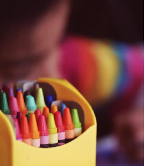 Children's drawing class